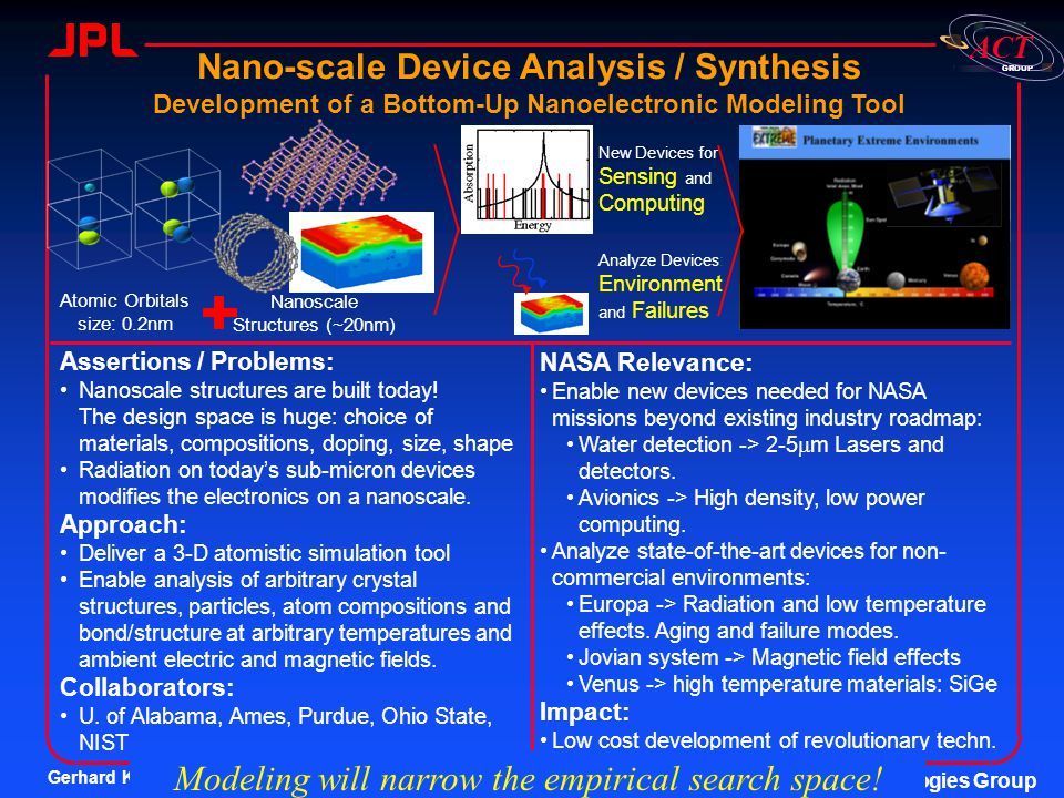 Nano-scale Device Analysis / Synthesis