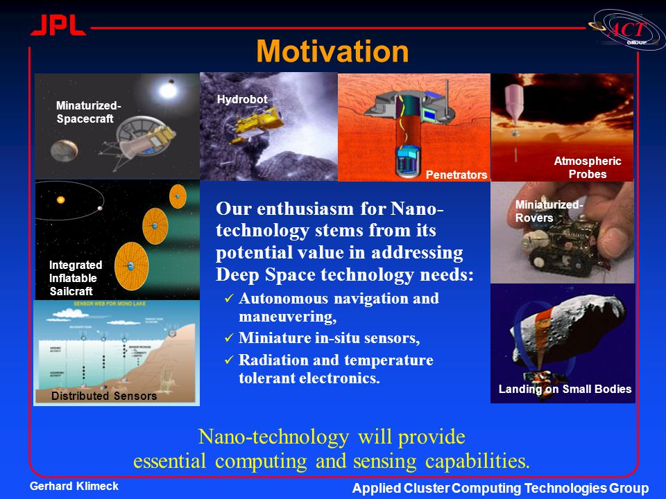 Motivation Penetrators. Atmospheric Probes. Hydrobot. Minaturized-Spacecraft.