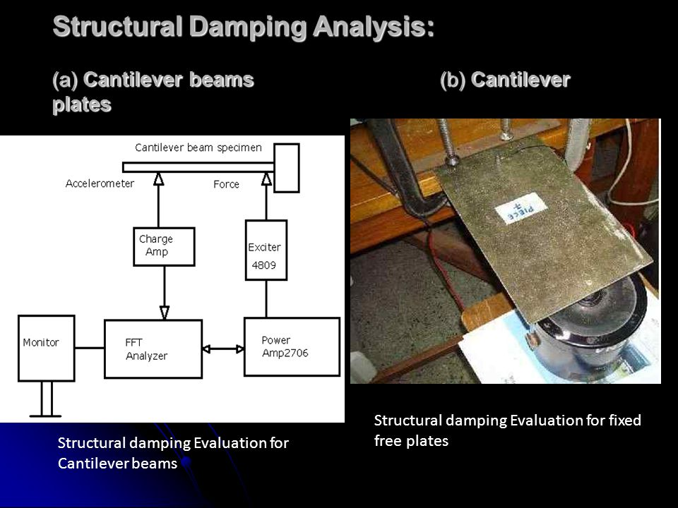 Structural Damping Analysis: (a) Cantilever beams (b) Cantilever plates