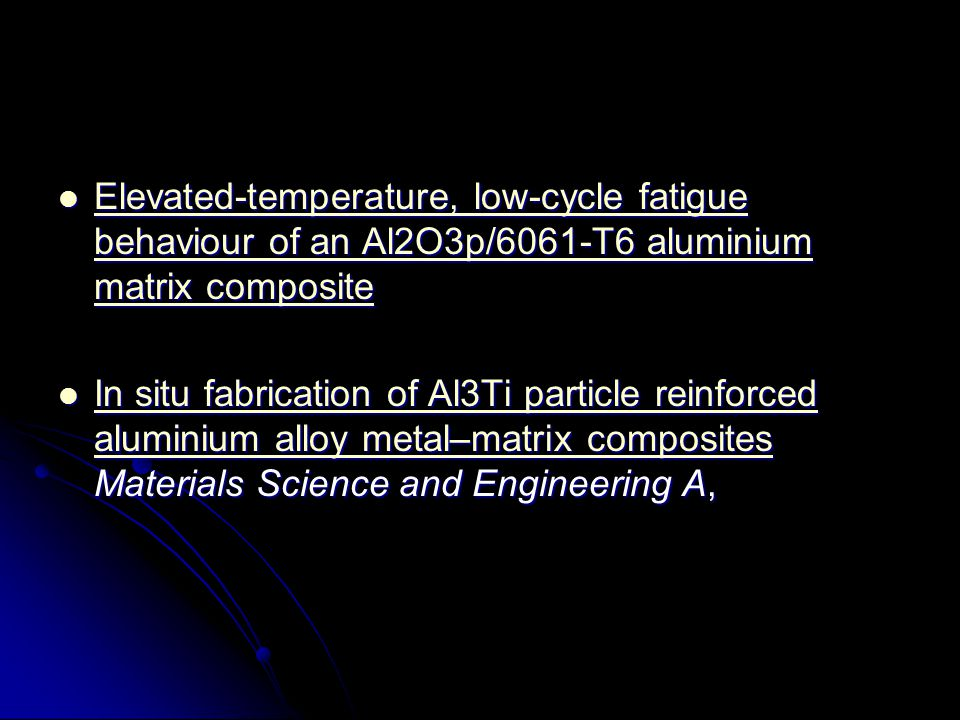 Elevated-temperature, low-cycle fatigue behaviour of an Al2O3p/6061-T6 aluminium matrix composite
