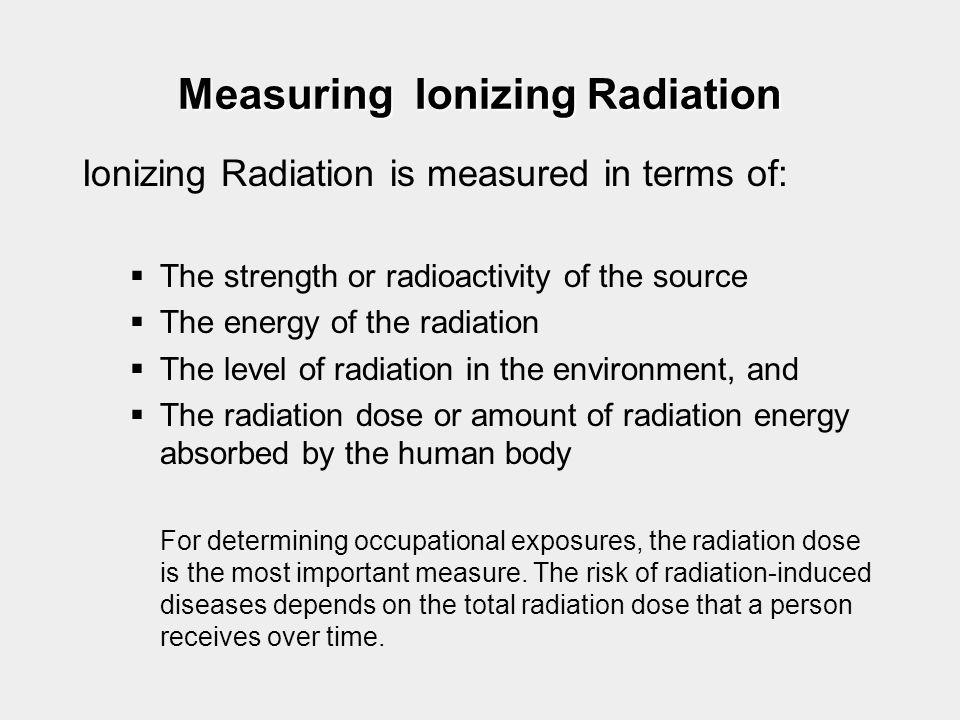 Measuring Ionizing Radiation