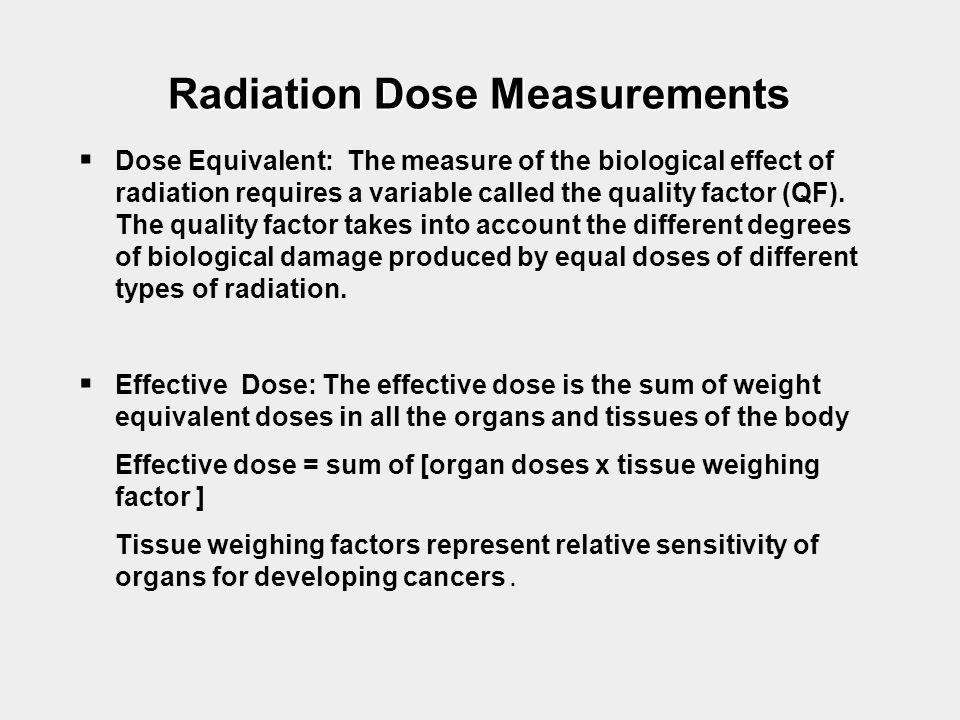 Radiation Dose Measurements