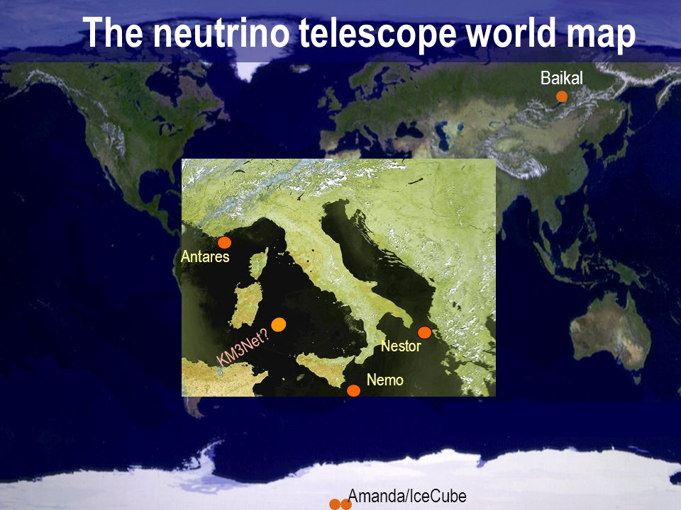 The neutrino telescope world map