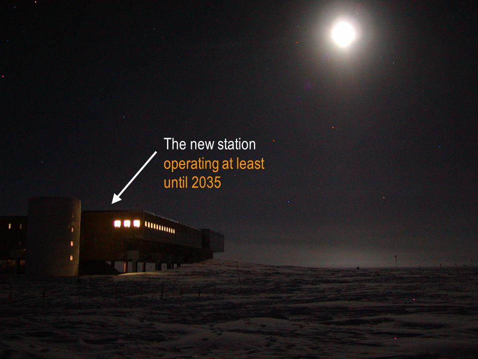 The new station operating at least until 2035