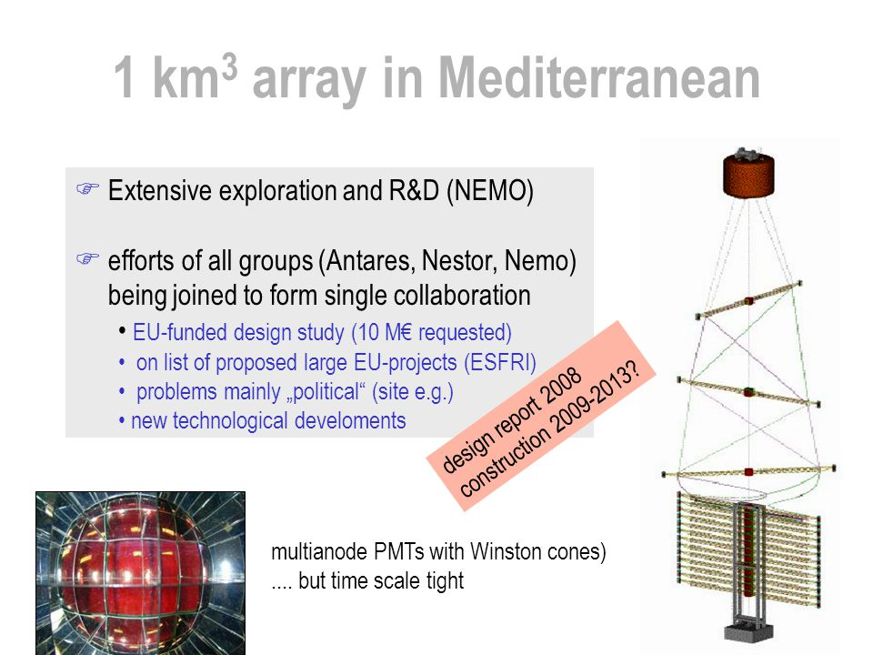 1 km3 array in Mediterranean