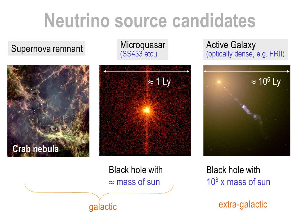 Neutrino source candidates