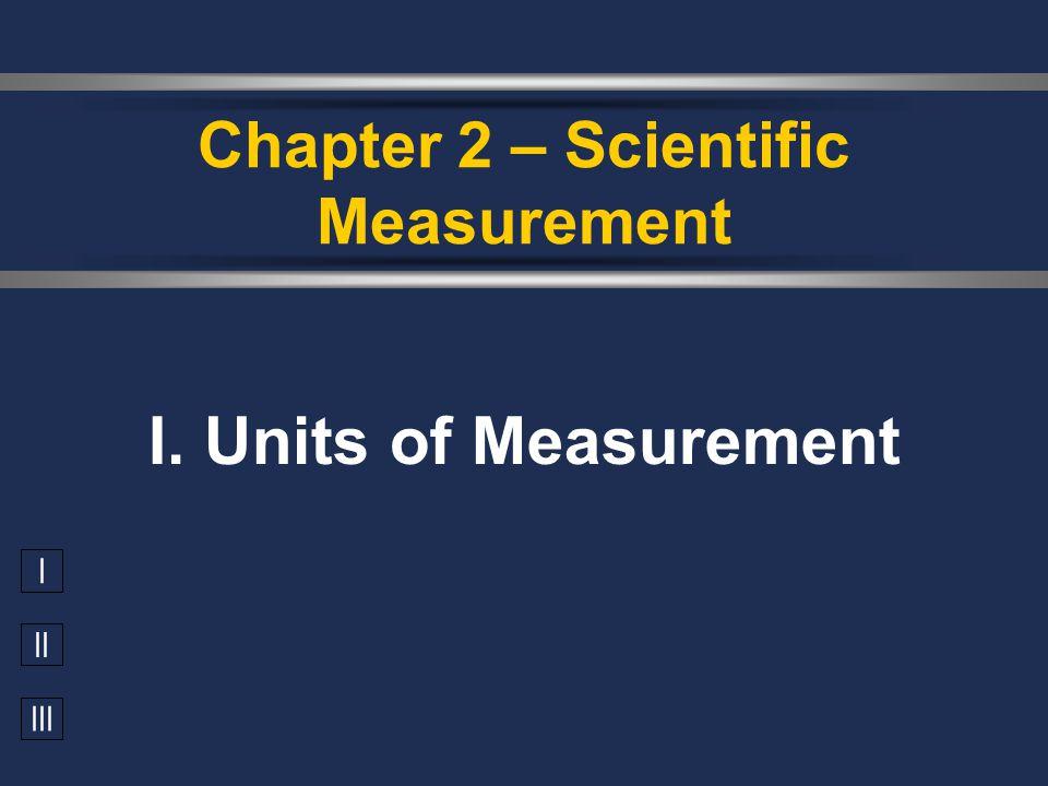 Chapter 2 – Scientific Measurement