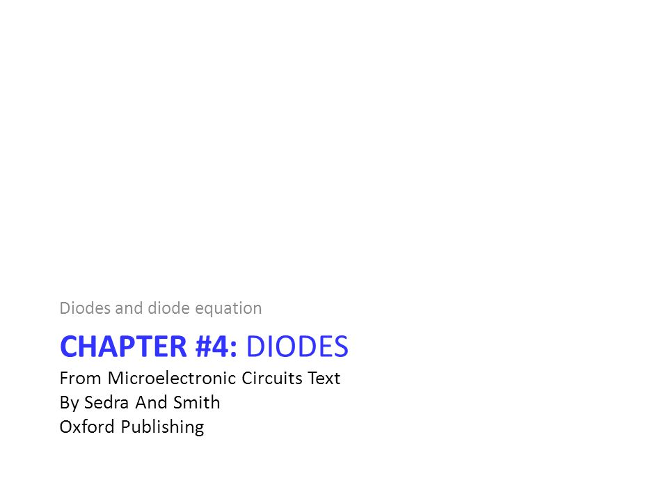 Diodes and diode equation