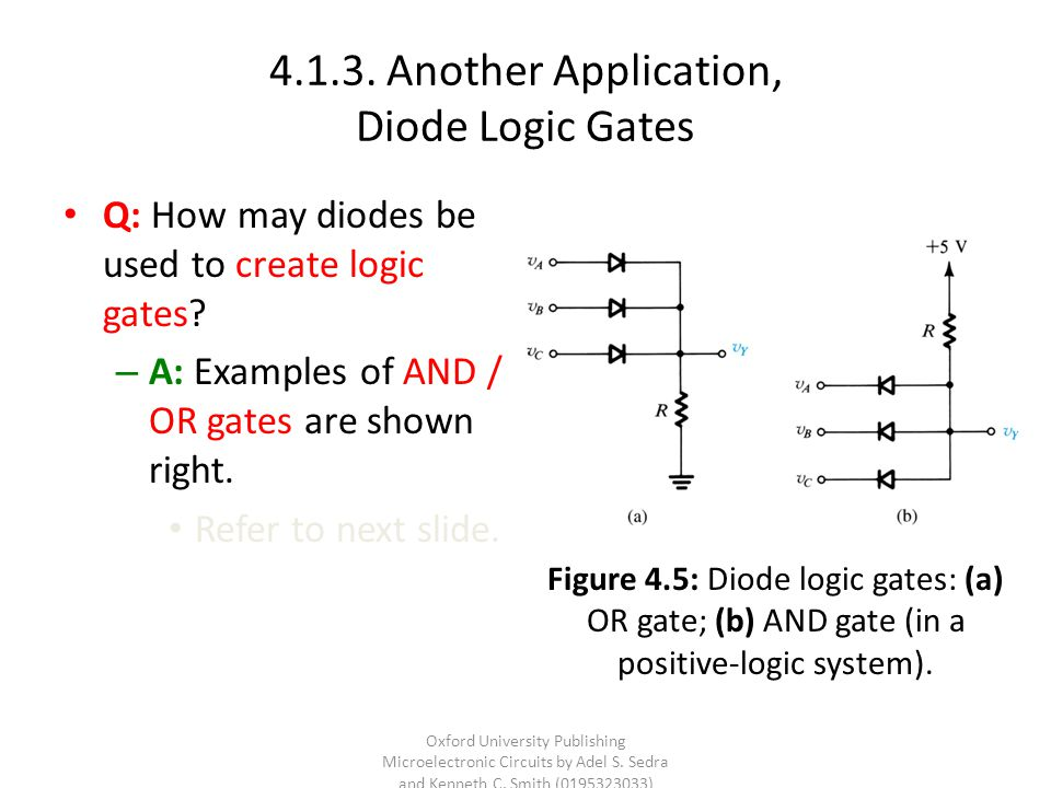 4.1.3. Another Application, Diode Logic Gates