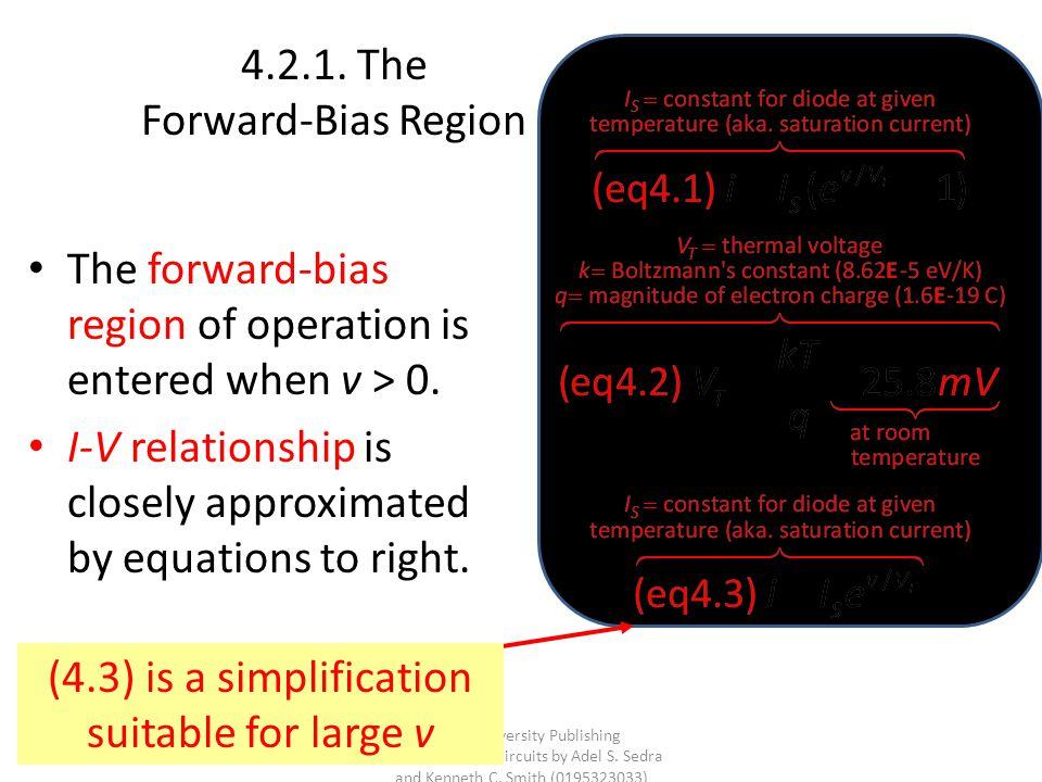 4.2.1. The Forward-Bias Region