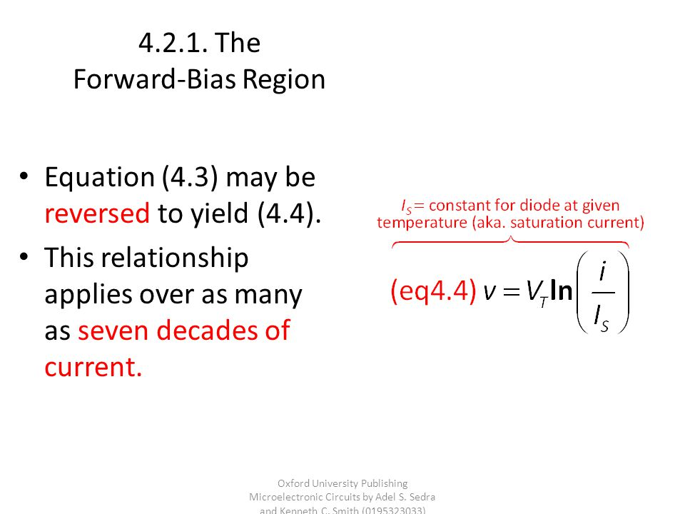 The Forward-Bias Region