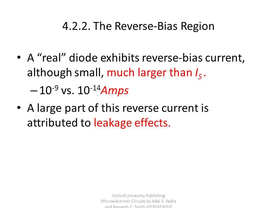4.2.2. The Reverse-Bias Region