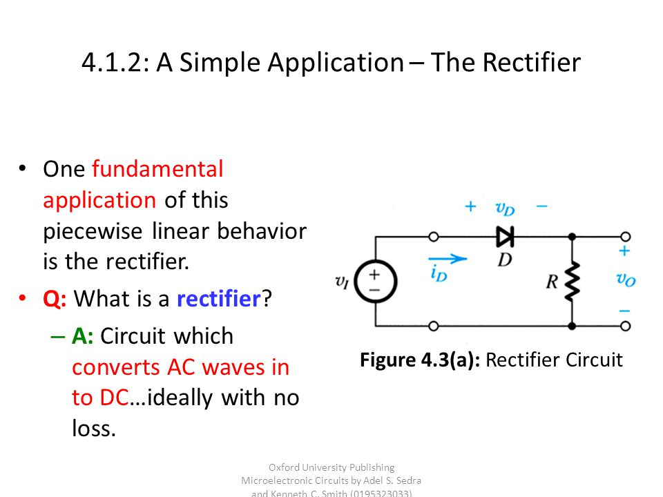 4.1.2: A Simple Application – The Rectifier