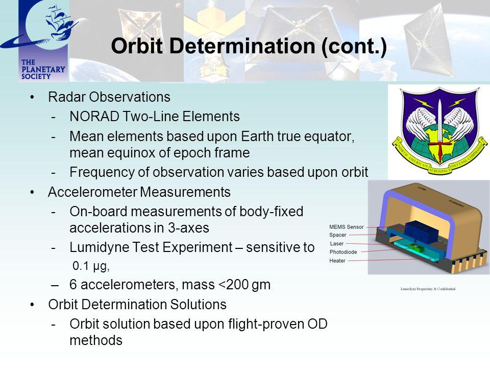 Orbit Determination (cont.)
