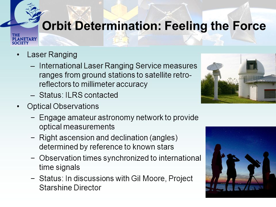 Orbit Determination: Feeling the Force