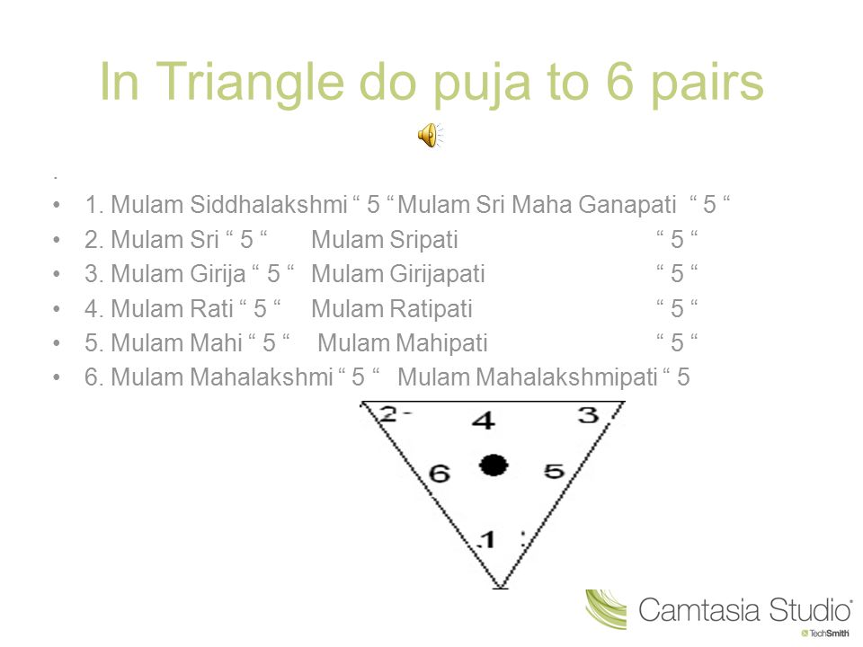 In Triangle do puja to 6 pairs