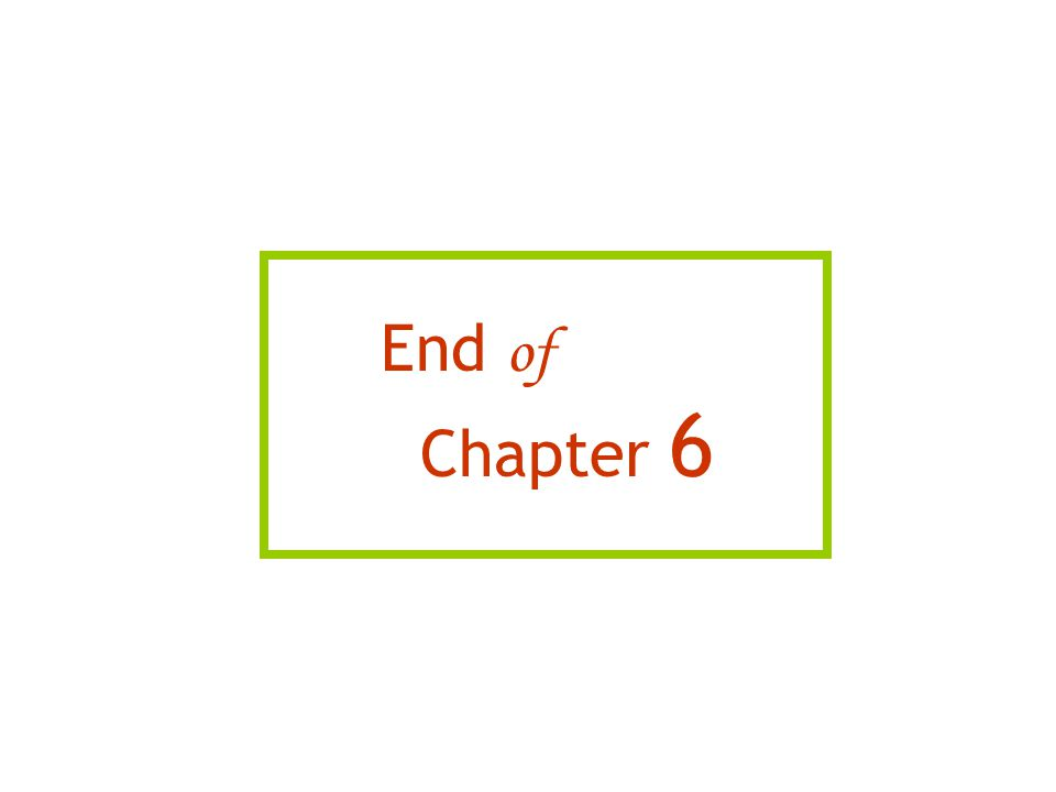 End of Chapter 6 15