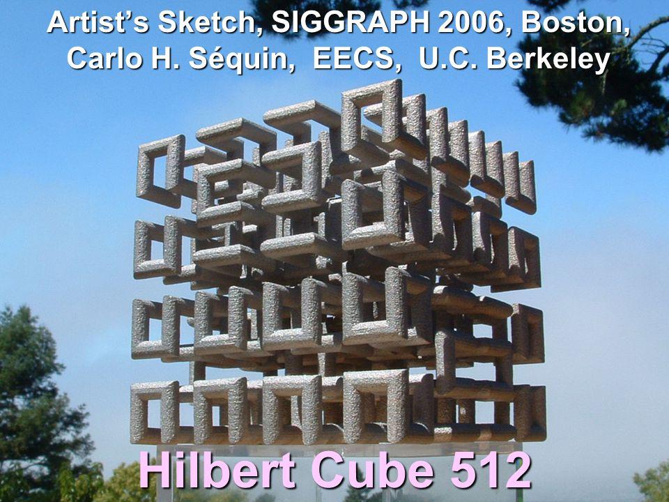 ISAMA 2004 Artist's Sketch, SIGGRAPH 2006, Boston, Carlo H. Séquin, EECS, U.C. Berkeley.