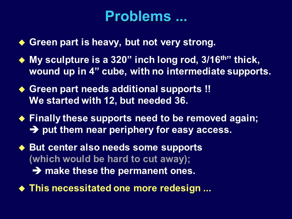 Problems ... Green part is heavy, but not very strong.