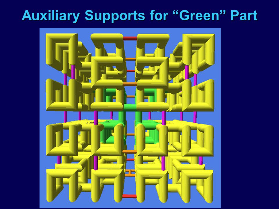 Auxiliary Supports for Green Part