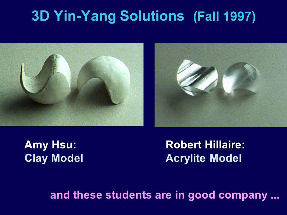 3D Yin-Yang Solutions (Fall 1997)