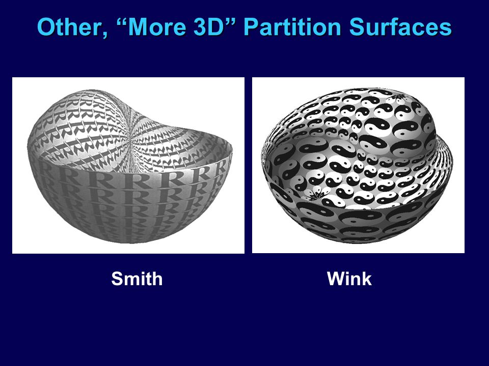 Other, More 3D Partition Surfaces