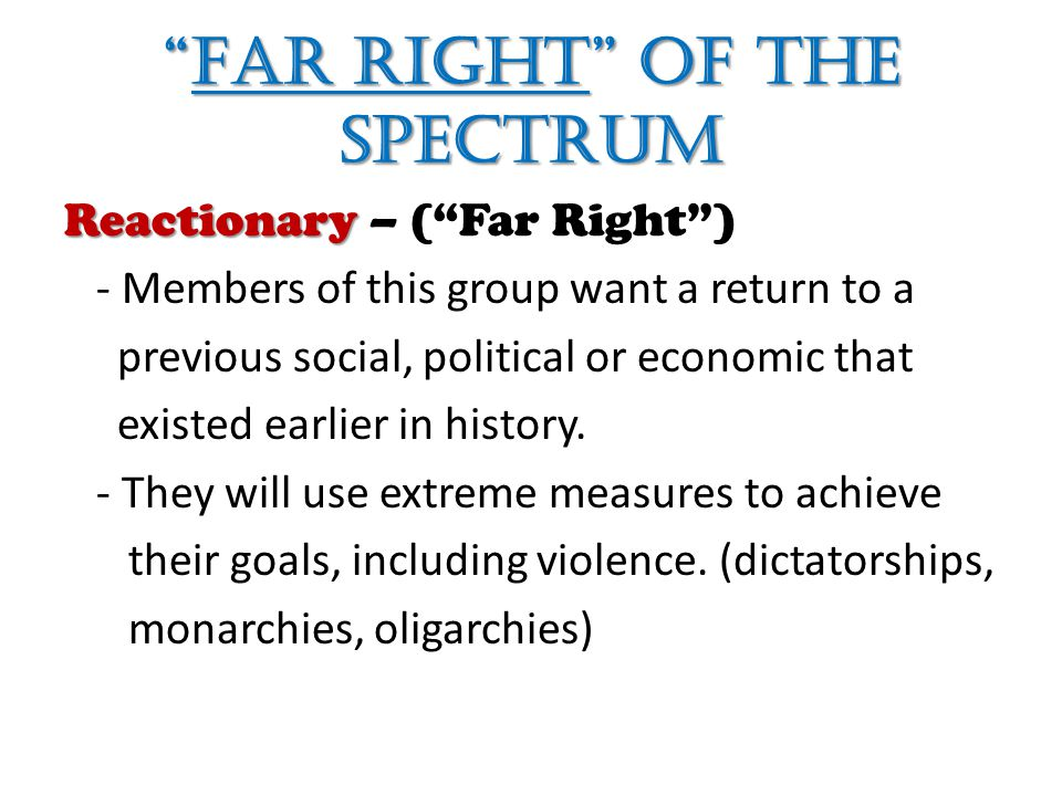 Far Right of the Spectrum
