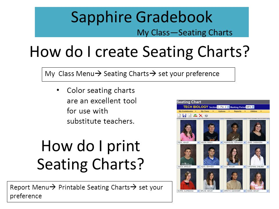 How do I create Seating Charts