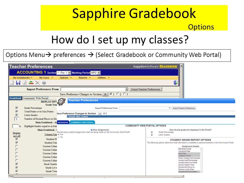 How do I set up my classes