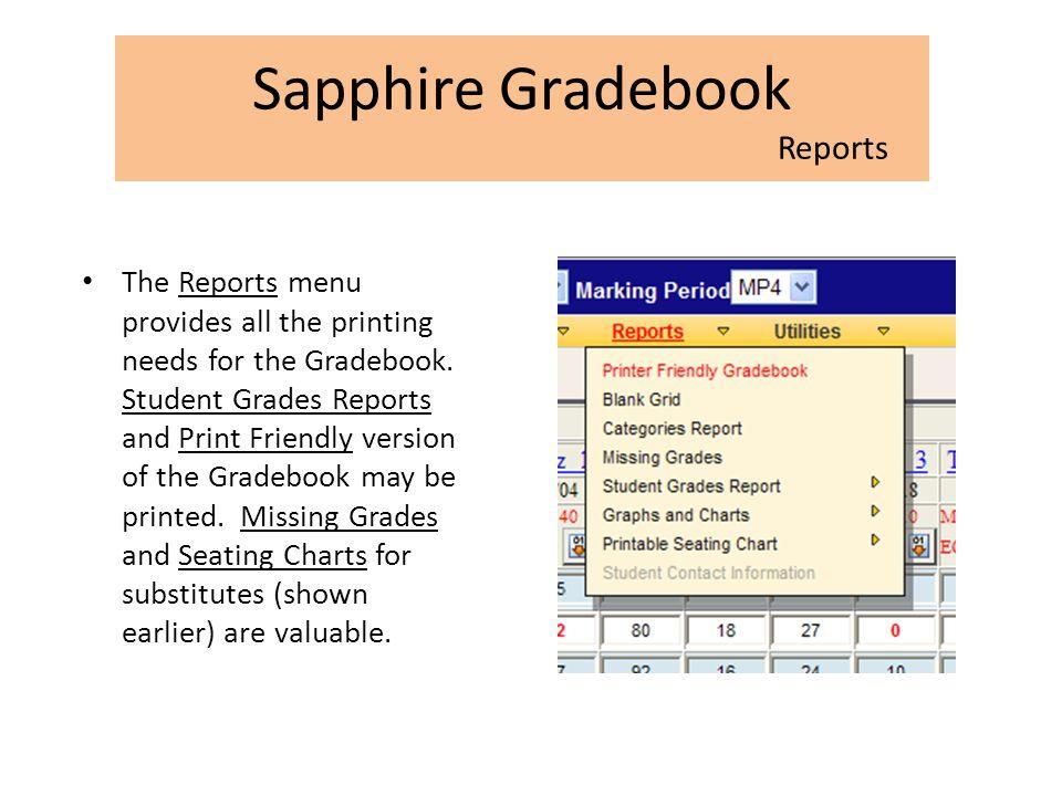 Sapphire Gradebook Reports