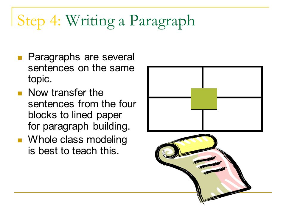 Step 4: Writing a Paragraph