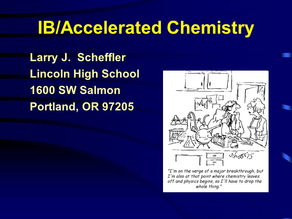 IB/Accelerated Chemistry