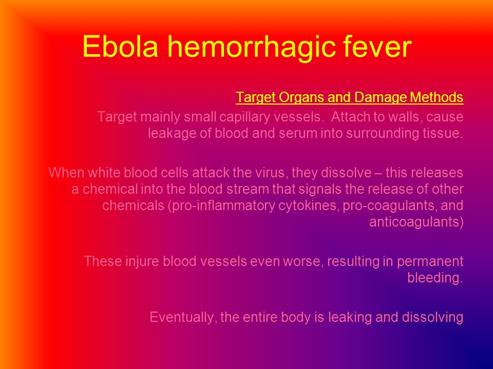 Ebola hemorrhagic fever