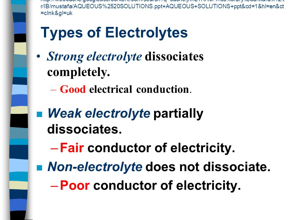 Strong electrolyte dissociates completely.