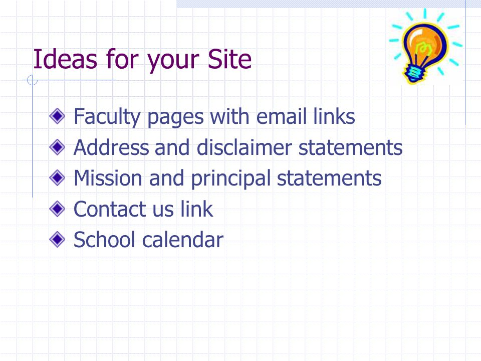 Ideas for your Site Faculty pages with email links