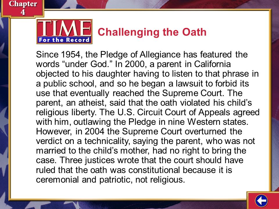 Challenging the Oath