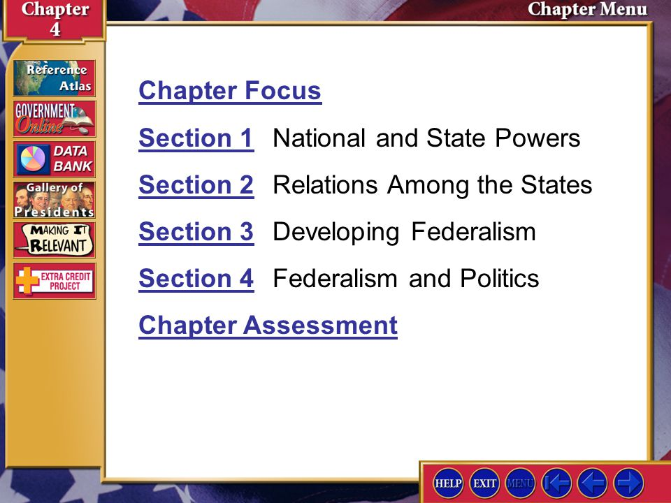 Section 1 National and State Powers