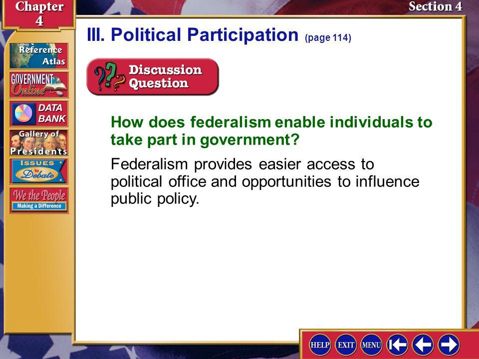 III. Political Participation (page 114)