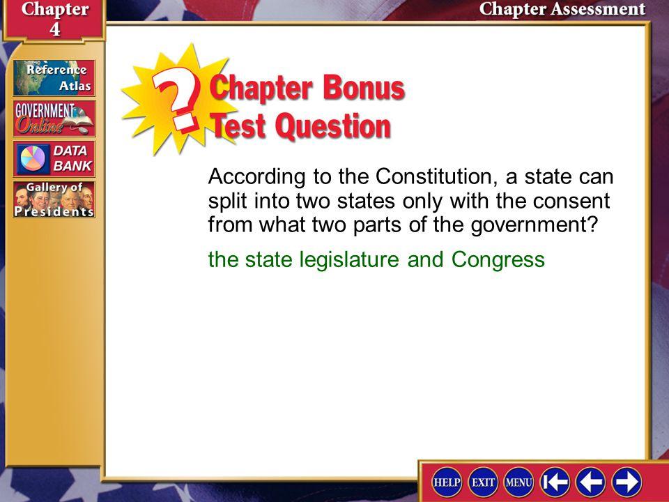 the state legislature and Congress