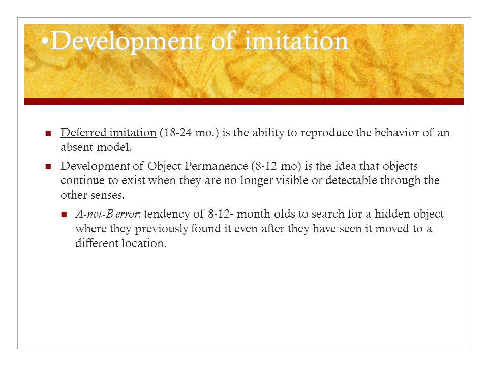 Development of imitation