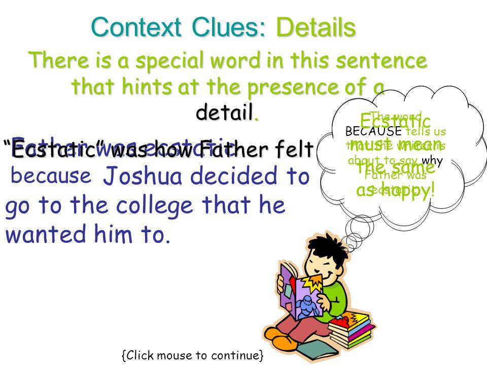 Context Clues: Details