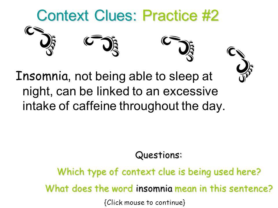 Context Clues: Practice #2