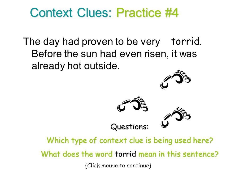 Context Clues: Practice #4