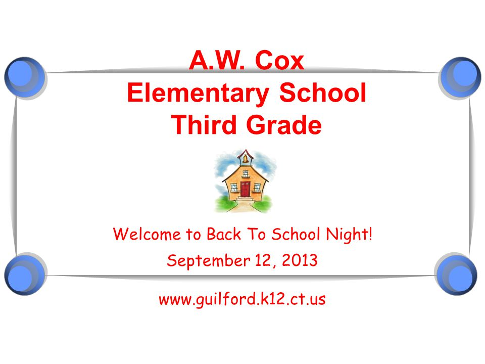A.W. Cox Elementary School Third Grade