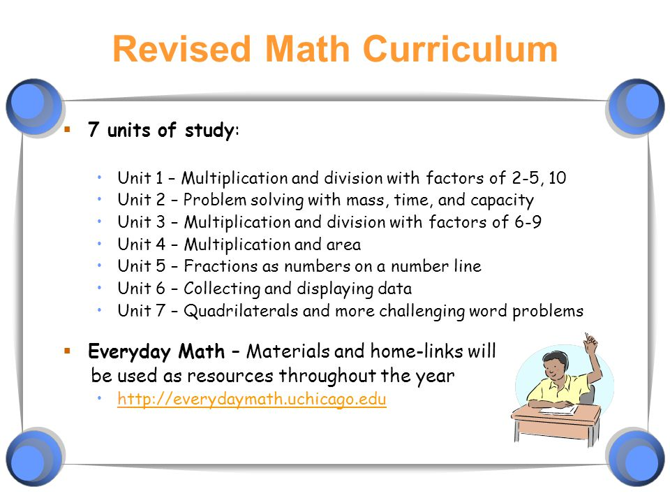 Revised Math Curriculum