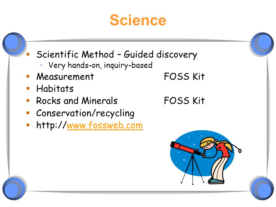Science Scientific Method – Guided discovery Measurement FOSS Kit