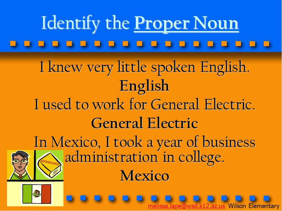 Identify the Proper Noun