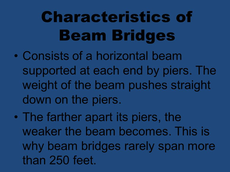 Characteristics of Beam Bridges