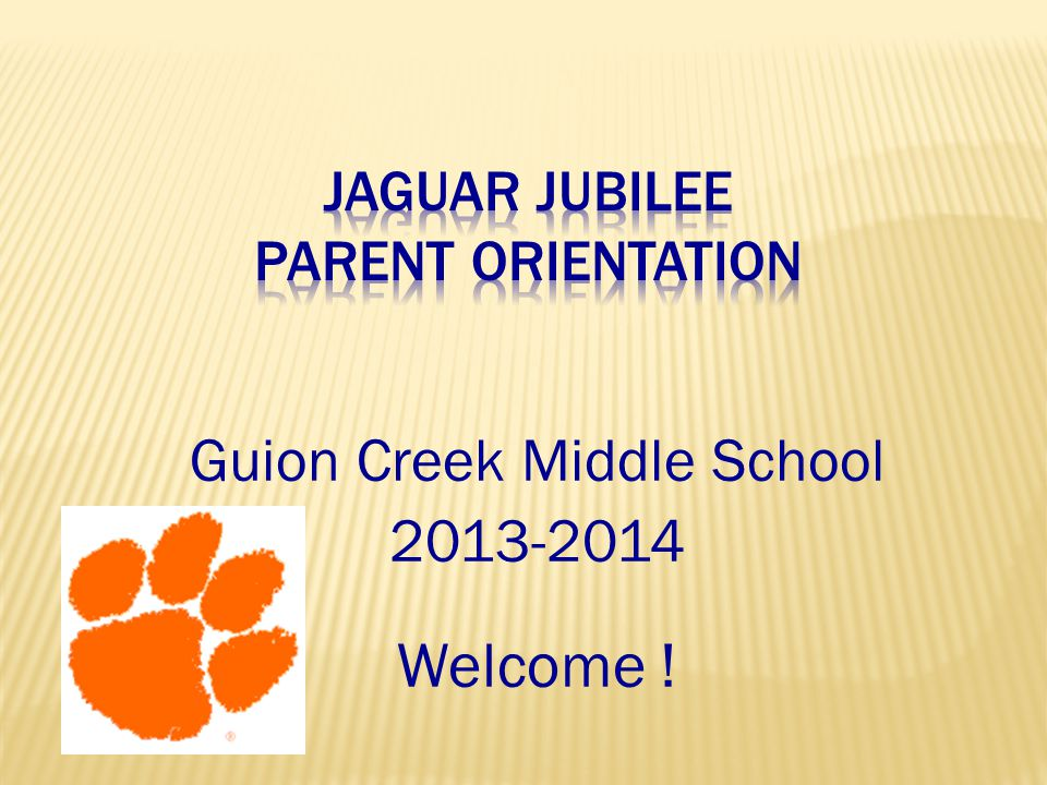 Jaguar Jubilee Parent Orientation
