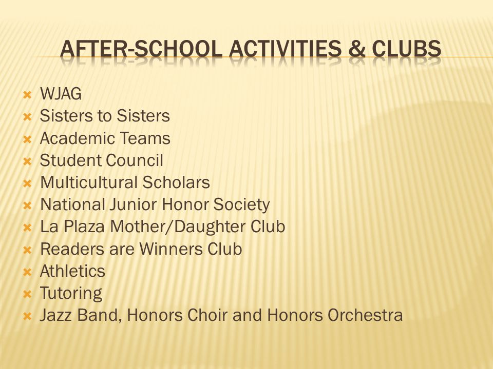 After-school Activities & Clubs